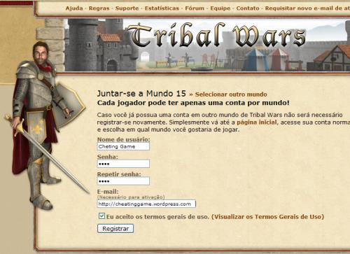 Registro Tribal Wars